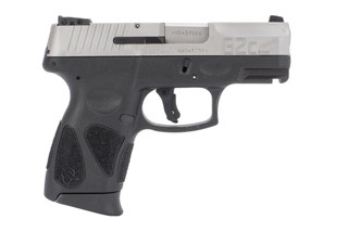 Taurus G2C 9mm Pistol features a stainless steel slide and black polymer frame