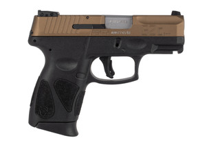 Taurus G2c 9mm sub compact pistol features a bronze slide