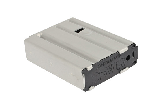The ASC 5.56 AR Magazine has a black anodized removable base plate