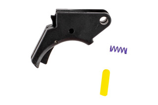 The Apex Tactical Enhanced Polymer M&P Trigger features a center mounted pivoting safety lever
