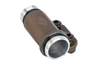 Reptilia Corp TORCH CR123 Light Body is brown anodized and designed for left side use