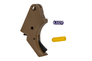 Apex Tactical M&P Polymer Action Enhancement Trigger FDE features a black safety