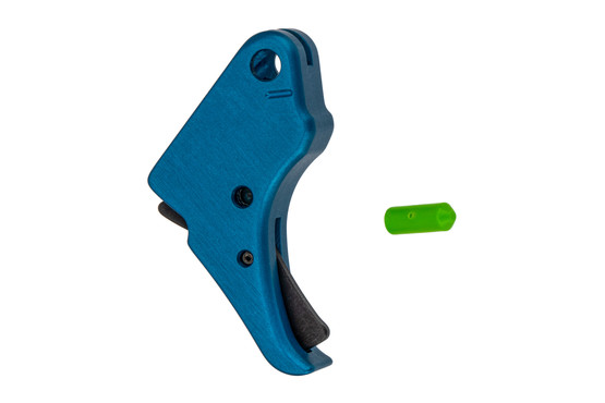 Apex Tactical Shield Trigger features a blue anodized finish