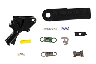 The Apex Tactical Flat Faced Trigger Kit for the M&P 2.0 handgun features a black anodized finish