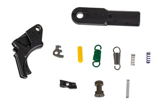 Apex Tactical M&P 2.0 Forward Set Trigger Kit features a curved trigger bow and black anodized finish