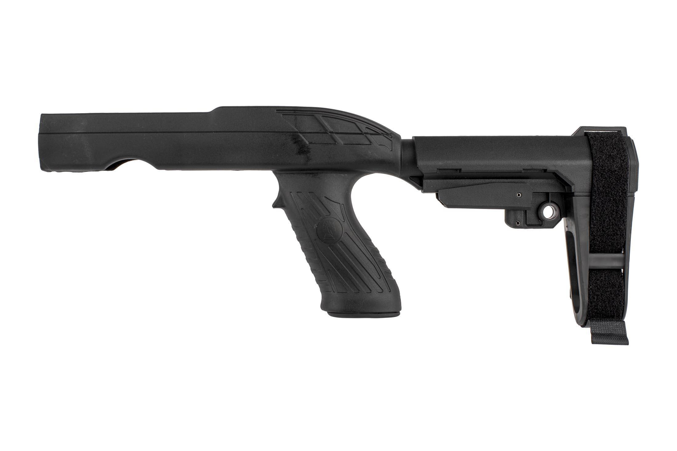 The SB Tactical 10/22 Charger TD stock assembly kit comes with the SBA3 adjustable arm brace