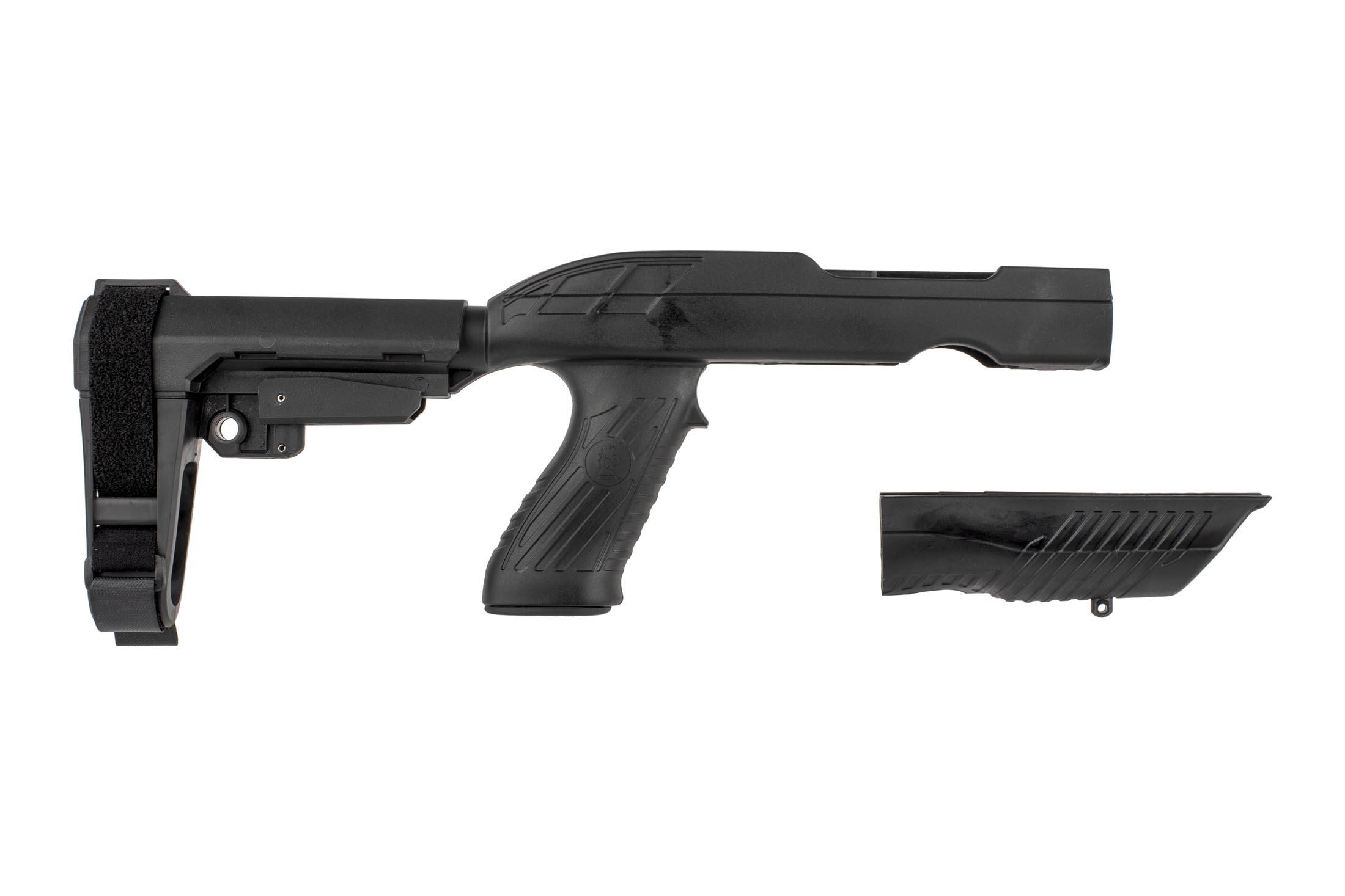 The SB Tactical Ruger 1022 charger take down SBA3 stabilizing brace kit comes with a polymer fore end