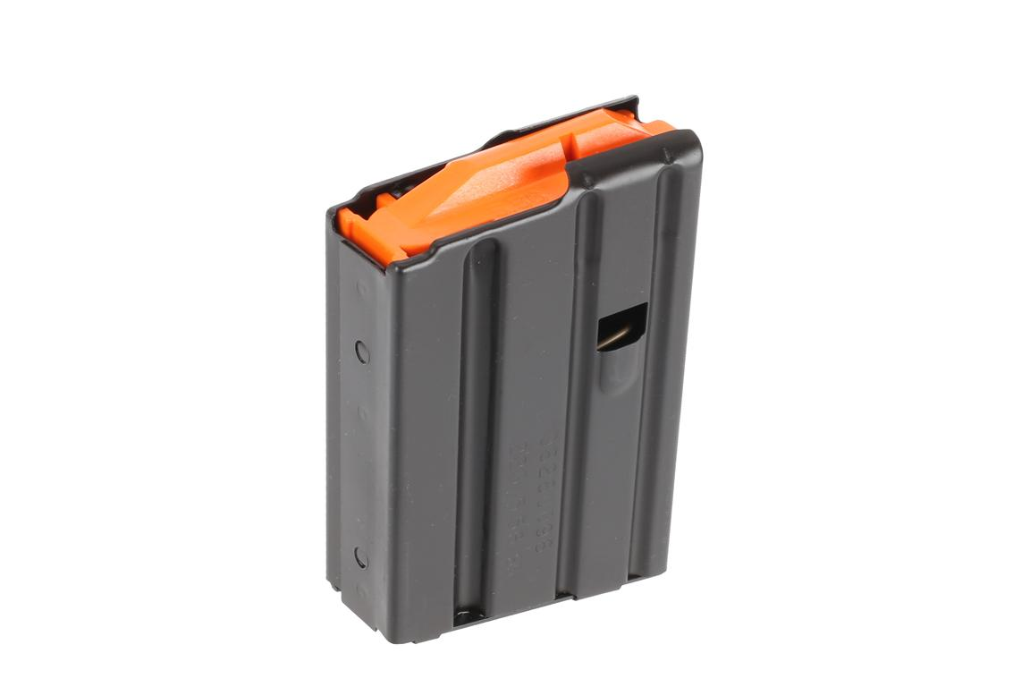 The C Products 10 round 5.56 AR15 magazine is made from stainless steel