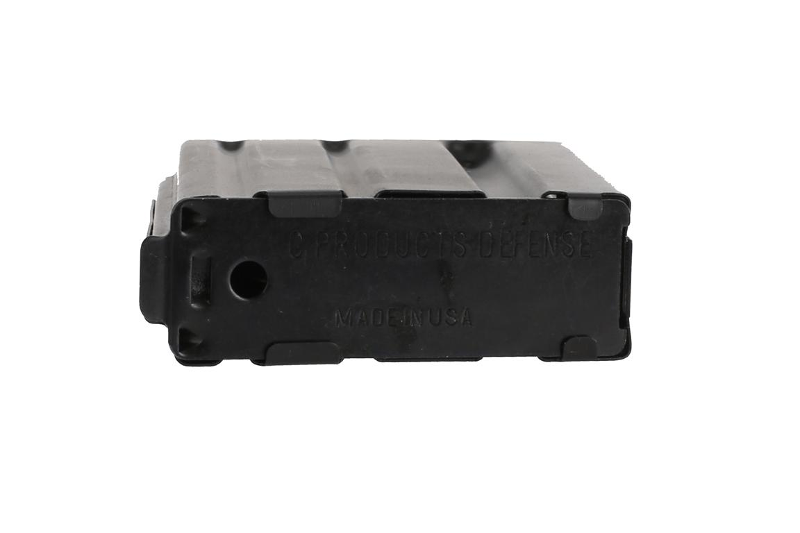 The C Products .223 AR15 magazine stainless steel has a removeable base plate