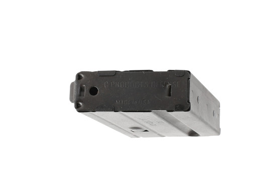 The C Products stainless steel 10 round magazine 7.62x39 has a removeable base plate
