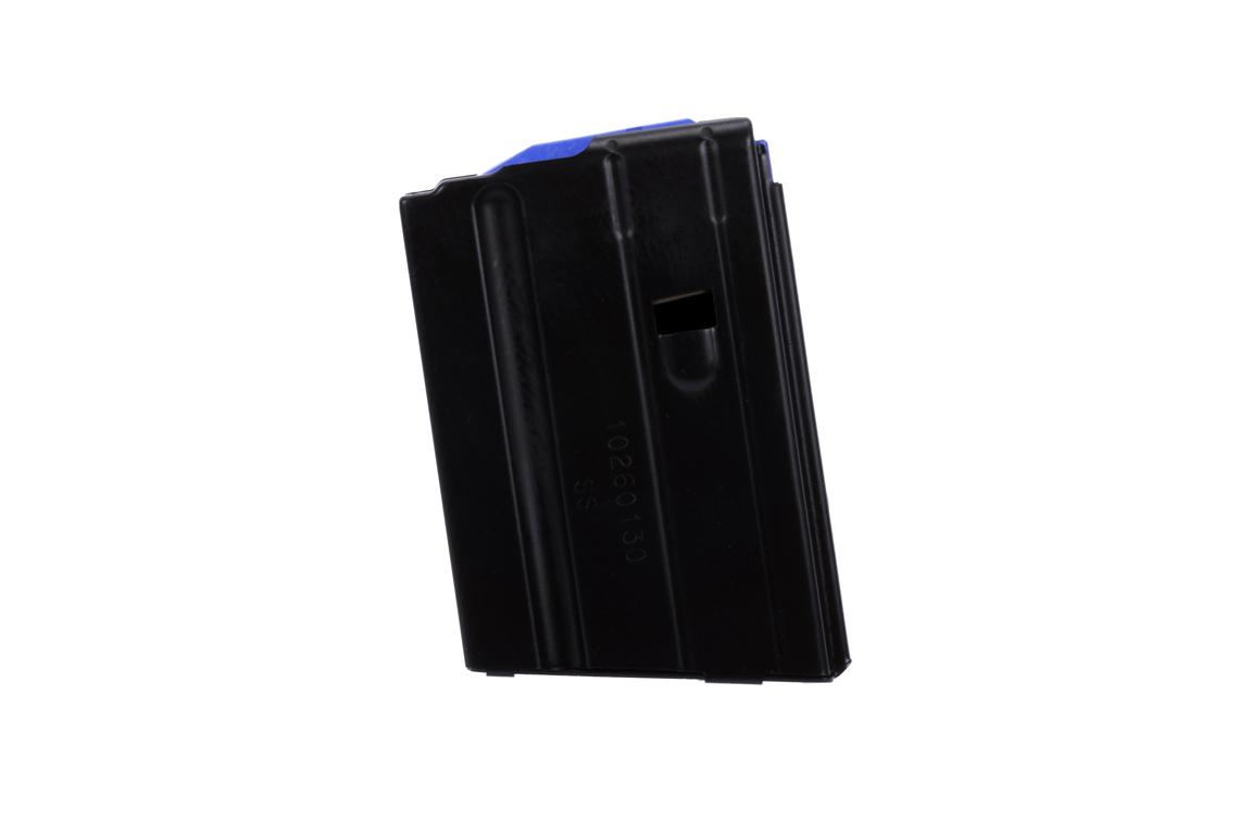 The C products 10 round 6.5 grendel magazine features a blue follower