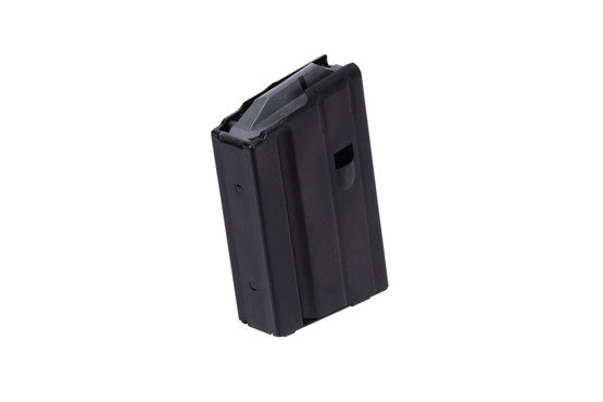 The C Products stainless steel 10 round 6.8 SPC magazine features a gray follower