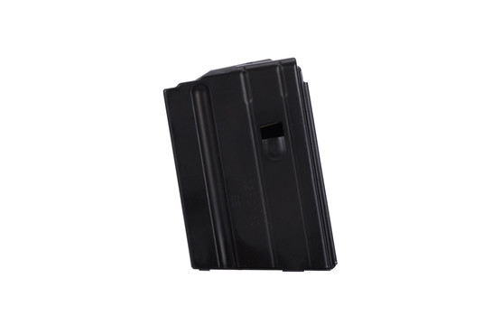 The C Products steel 6.8 SPC magazine 10 round features a black anodized finish