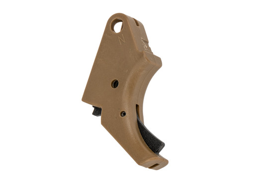 Apex Tactical SD Polymer Action Enhancement Trigger is flat dark earth and features a black safety