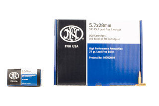 FN America SS195LF 5.7x28 ammo features a lead free hollow point bullet