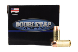 DoubleTap Ammunition Equalizer 10mm Auto with 190gr Jacketed Hollow Point Dual projectile ammo, 20-per box.