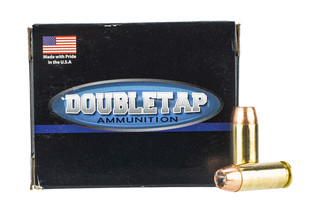 DoubleTap Ammunition 10mm Bonded defense features a 155 grain jacketed hollow point bullet