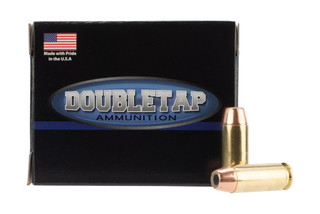 DoubleTap Ammunition Controlled Expansion 10mm Auto with 200gr Jacketed Hollow Point ammo, 20-per box.