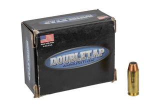 The DoubleTap Ammunition Equalizer 10mm auto features a 230 grain duplex round with jacketed hollow point