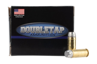 DoubleTap Ammunition Hardcast 10mm Auto with 230gr Jacketed Hollow Point ammo, 20-per box.