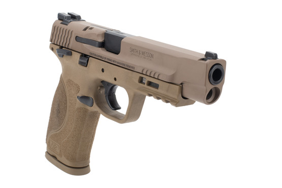 Smith and Wesson M&P9 2.0 full size pistol FDE features a 5 inch barrel