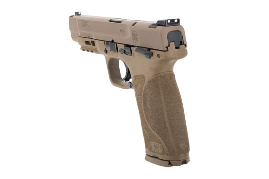 Smith and Wesson M&P 9 2.0 pistol FDE features a 17 round capacity in 9mm
