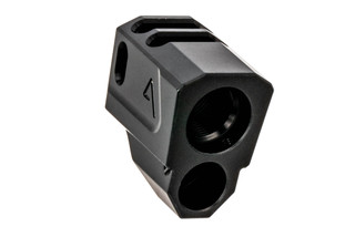 The Agency Arms M&P 1.0 Compensator features a dual port design