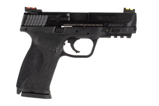 Smith & Wesson M&P9 performance center 9mm pistol features fiber optic sights