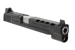 Smith and Wesson M&P9 performance center slide assembly features a 5 inch ported barrel