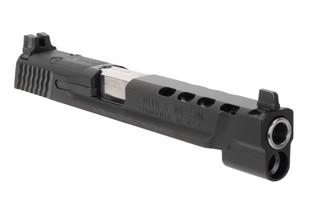 Smith and Wesson M&P 40 S&W ported slide assembly features a 5 inch barrel