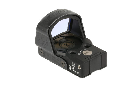 The Leupold Delta Point Pro red dot sight uses a CR2032 batter that can be removed without taking off the sight