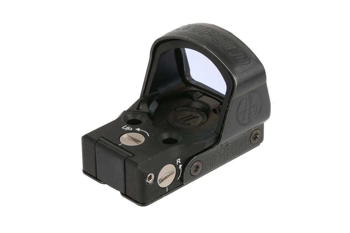 The Deltapoint pro pistol red dot sight can easily be adjusted for windage and elevation
