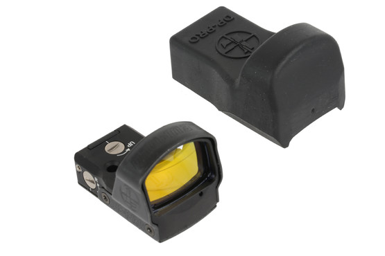 The Leupold DeltaPoint Pro sight comes with a protective polymer cover