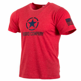 Bravo company star shirt in red from front