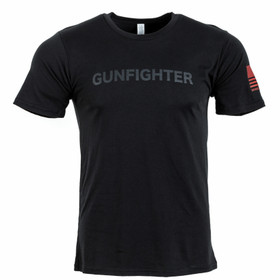 Bravo company gunfighter tee in black from the front view