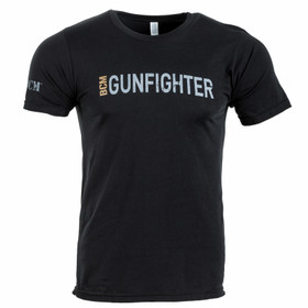 Bravo Company BCM gunfighter shirt in black from the front view