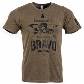 Bravo Company Manufacturing professional grade shirt in brown