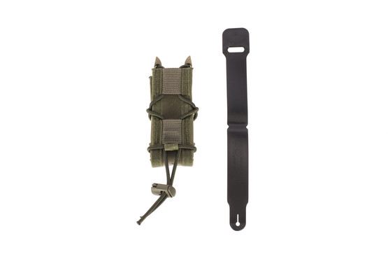 The High Speed Gear olive drab green taco pistol magazine pouch is made from cordura and features polymer side brackets