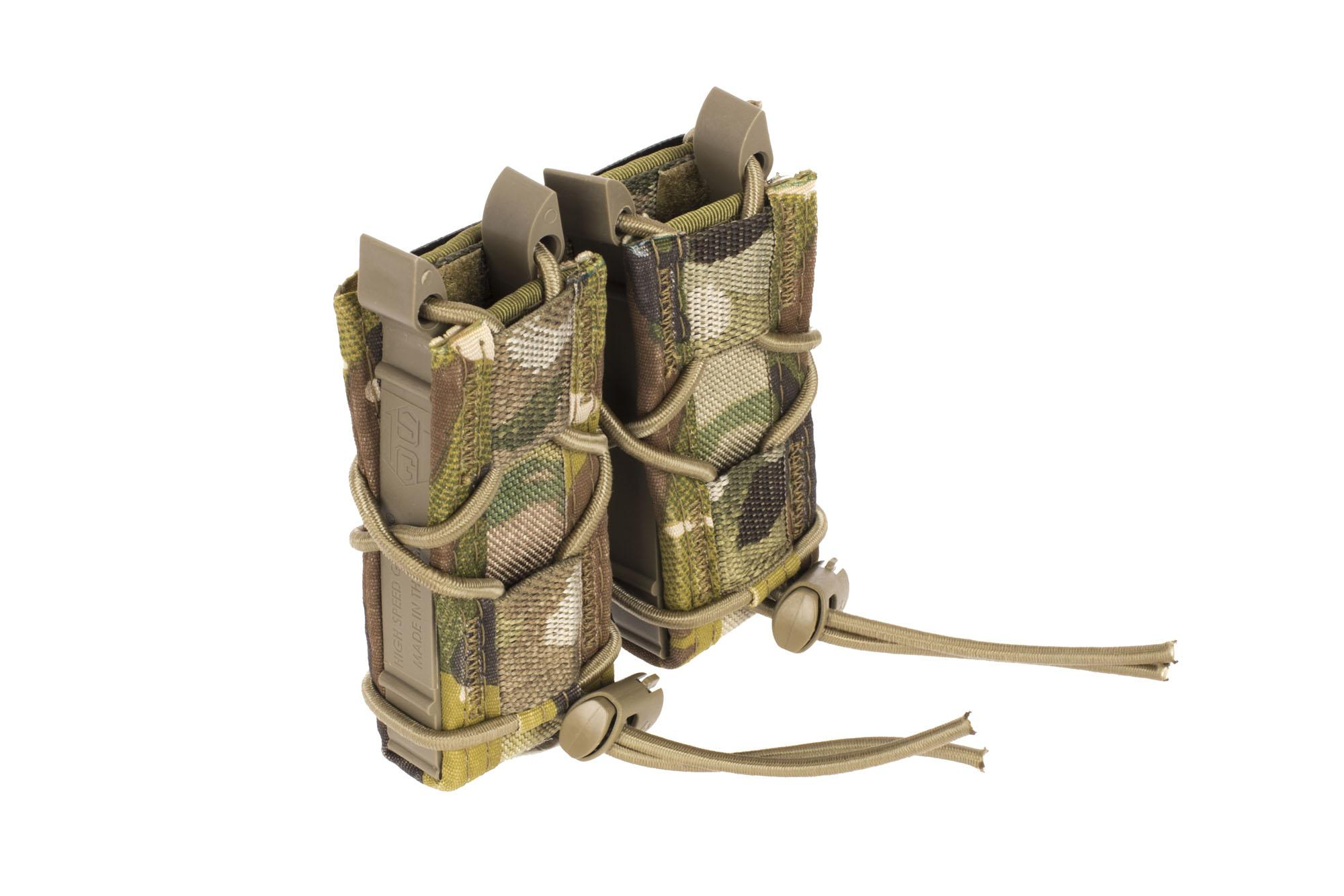 High Speed Gear Double Pistol Magazine Pouch MOLLE MultiCam