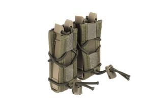 The High Speed Gear TACO double pistol magazine pouch features the MOLLE attachment method and provides proper mag retention