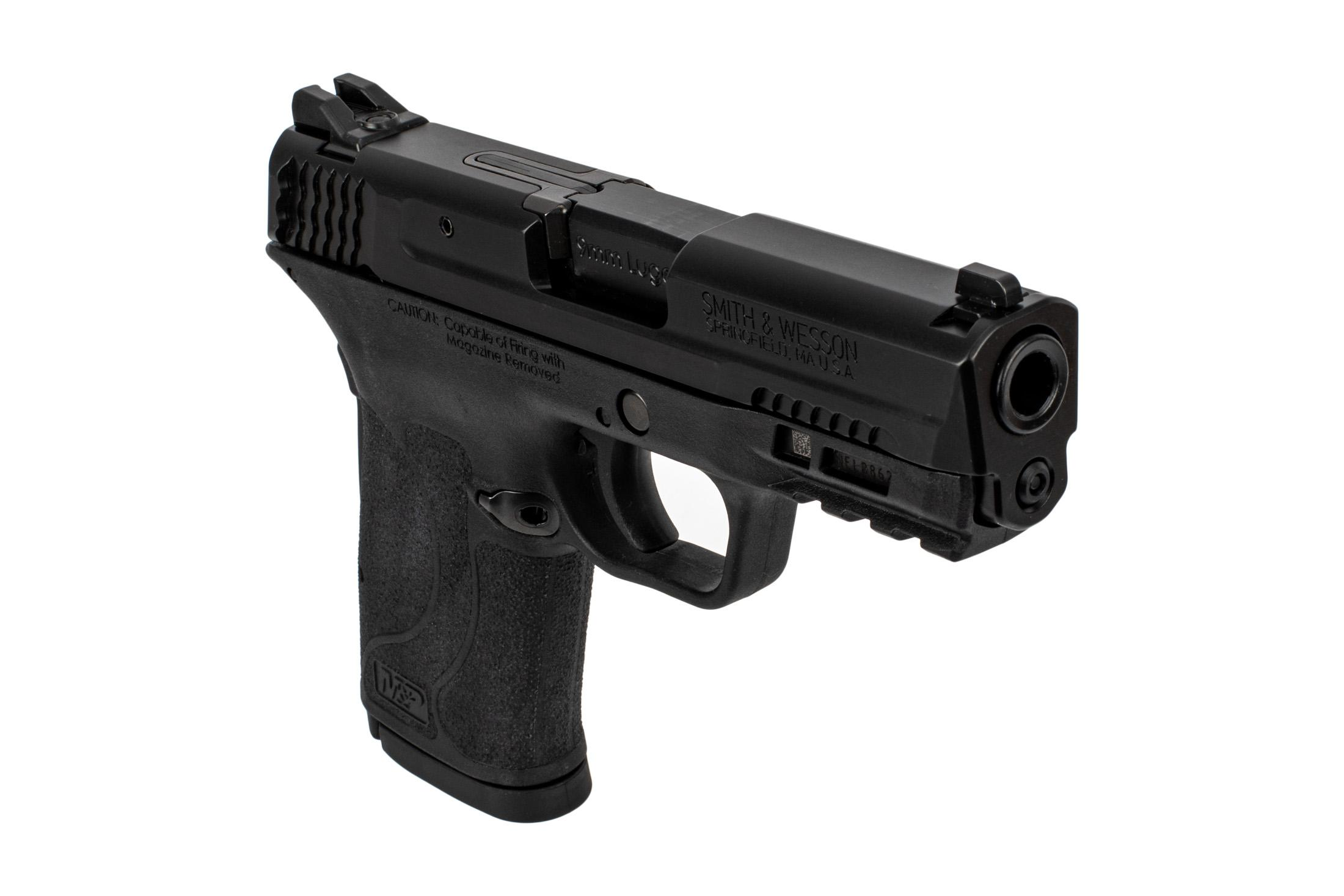 S&W M&P9 Shield EZ Pistol features a picatinny rail for attaching lights