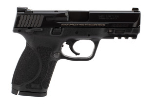 Smith and Wesson M&P compact 9mm pistol with manual thumb safety