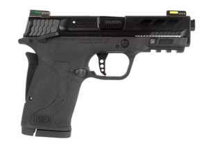 Smith and Wesson M&P380 performance center shield EZ features a ported barrel