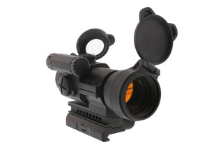 The Aimpoint PRO patrol rifle optic is a rugged red dot sight designed for military, police, and law enforcement use