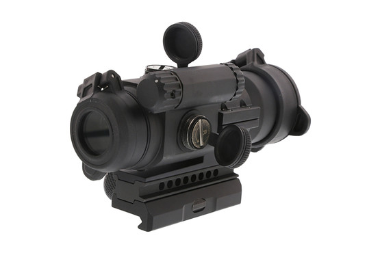 The Aimpoint PRO patrol rifle optic uses standard aaa batteries and last up to 50,000 hours and is made out of aluminum