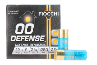 Fiocchi 00 Defense 12 gauge buck shot ammo is loaded with 9 pellets