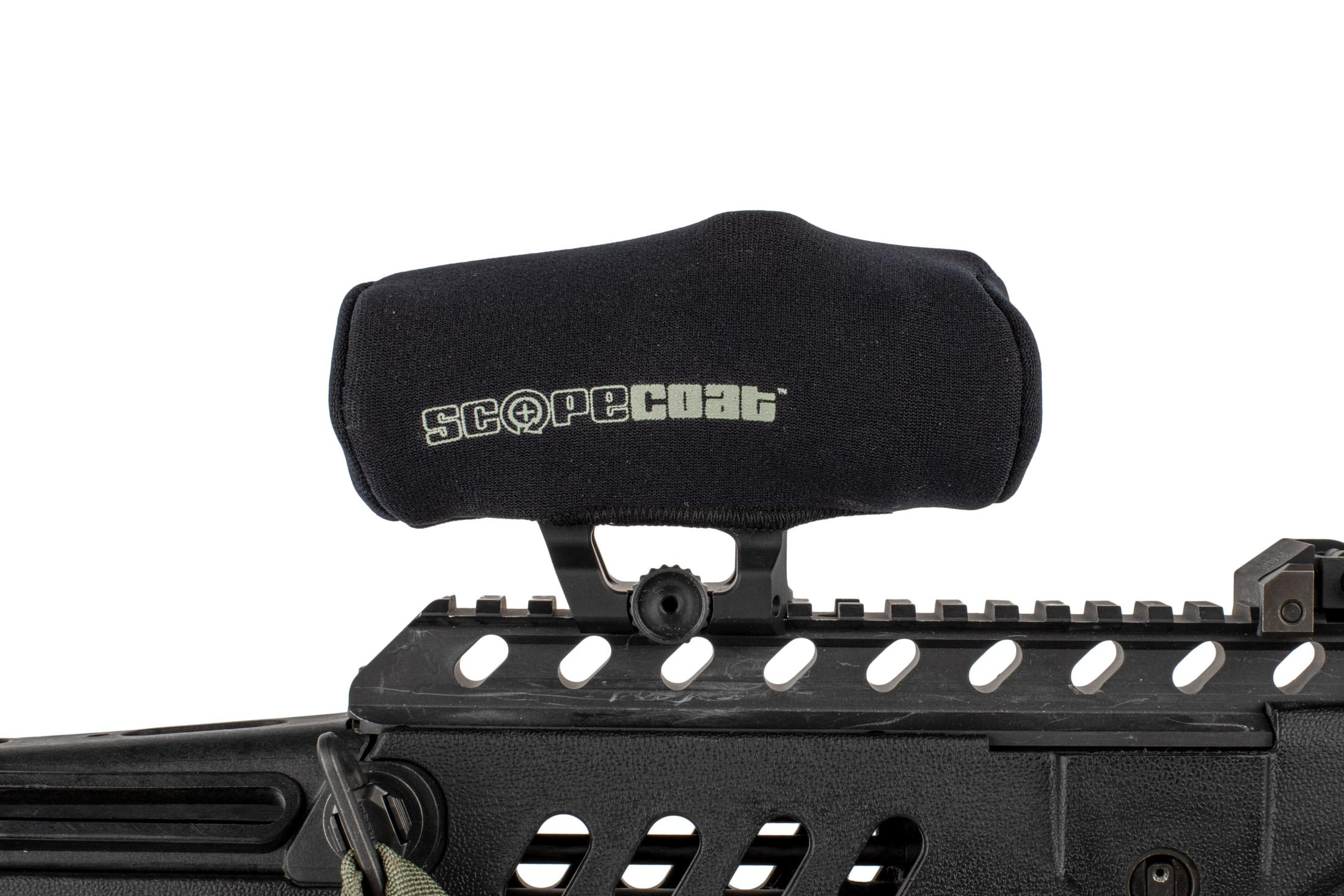 This Scopecoat red dot cover is designed to fit Aimpoint M2 and M3 red dot sights