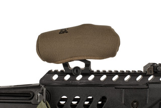 The Flat Dark Earth Scopecoat red dot cover is designed to fit the Aimpoint M2 and M3