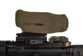 The Scopecoat Trijicon TA-01 scope cover is made from a 3mm thick Flat Dark Earth Neoprene material