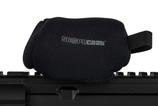 The Trijicon MRO Scopecoat red dot sight cover is made from 3mm black Neoprene material